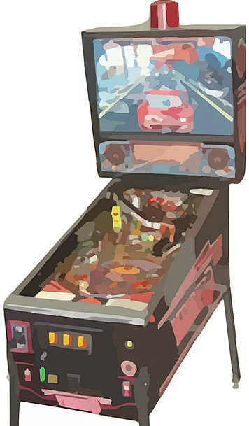 Pinball Vintage Out-of-date Pin-Ball Machine Class