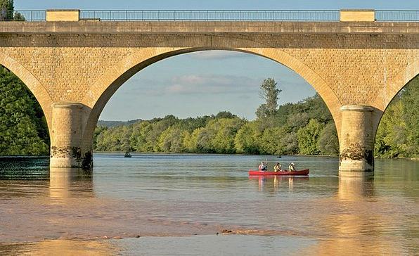 Bridge Bond Landscapes Nature River Stream Canoe D