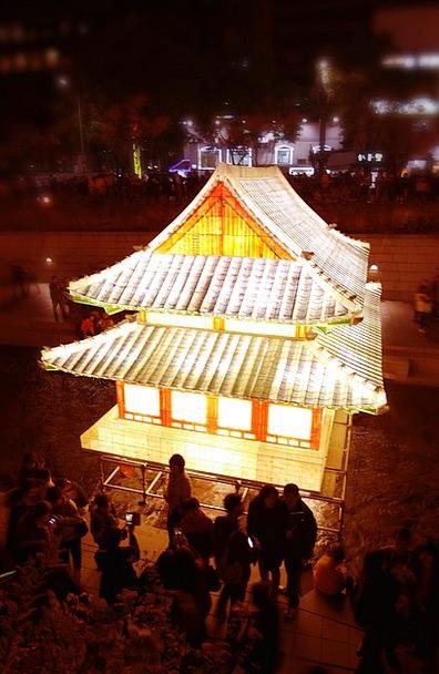 Pagoda Shrine Seoul Temple Light Bright Festival K
