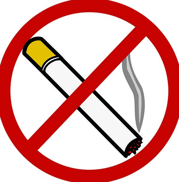 No Smoking Symbol Sign Cigarette Roll-up Prohibite