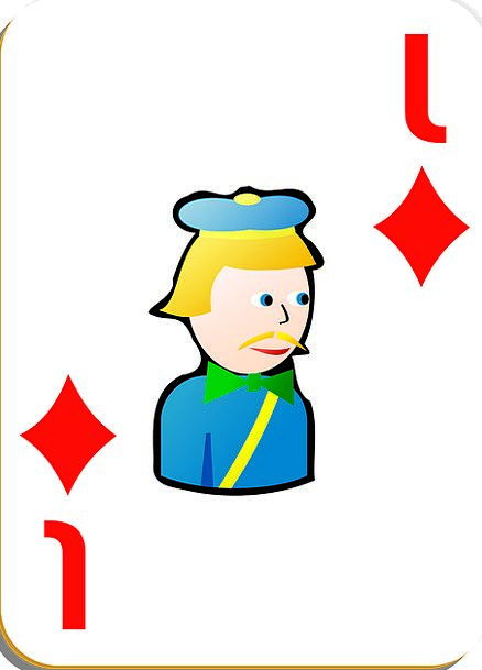 Playing Card Knave Diamonds Rhombuses Jack Risk Ga