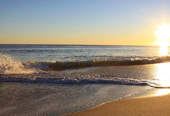 Sunrise Dawn Vacation Travel Wave Upsurge Daybreak