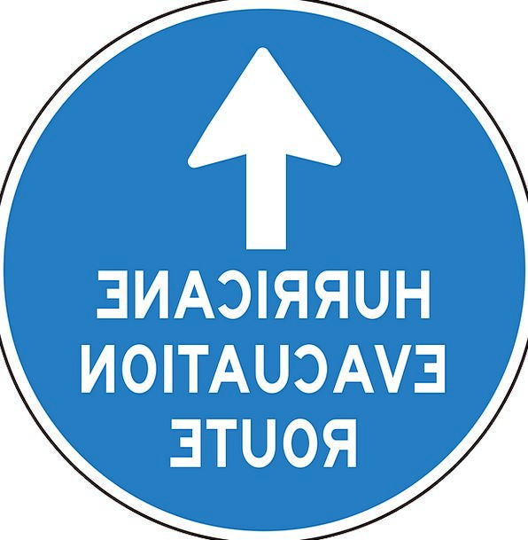 Hurricane Storm Removal Route Way Evacuation Arrow