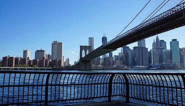 Bridge Bond Buildings Urban Architecture New York