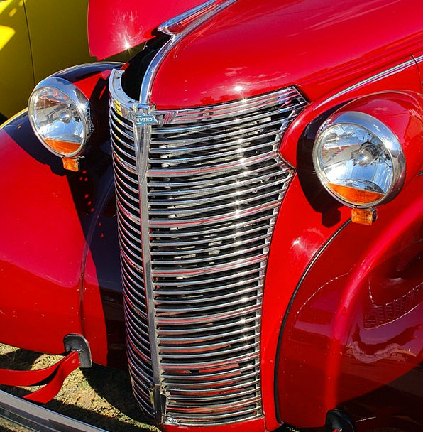Chevrolet Grille Grating Chrome Red Classic Car Au