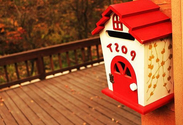 Mailbox Letterbox Literatures Card Postcard Letter