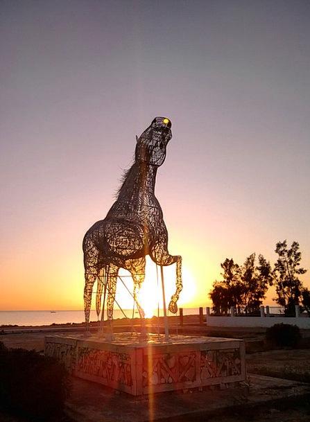 Tunisia Vacation Statue Travel Horse Mount Sculptu