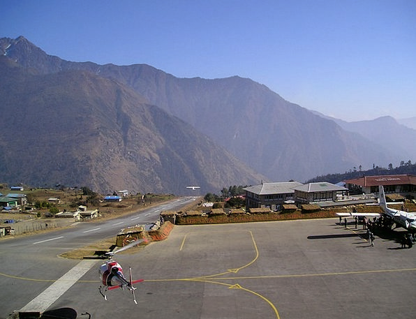 Nepal Airfield Lukla Airport Everest Trek Walk