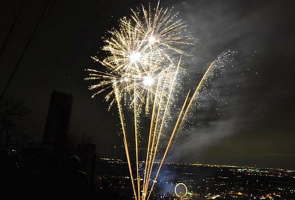 Fireworks Rockets Rejoice Sylvester Celebrate New