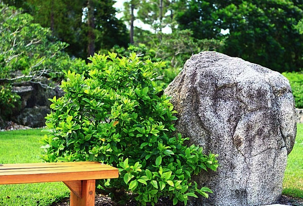 Garden Plot Rock Pillar Japanese Bench Seat Florid