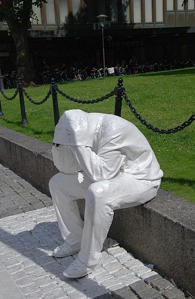 Statue Figurine Snowflake Man Gentleman Snow Peopl