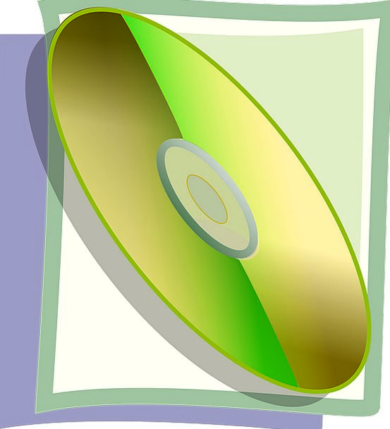 Compact Disc Disc Gold Gilded Cd Multimedia Green