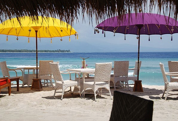 Bali Vacation Seashore Travel Parasol Sunshade Bea