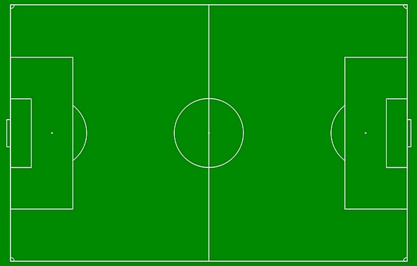 Soccer Field Drawing Green Lime Diagram White Line