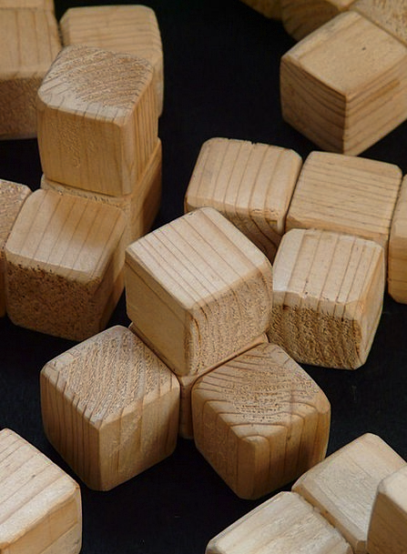 Cube Dice Timber Wooden Toys Wood Puzzle Mystery S