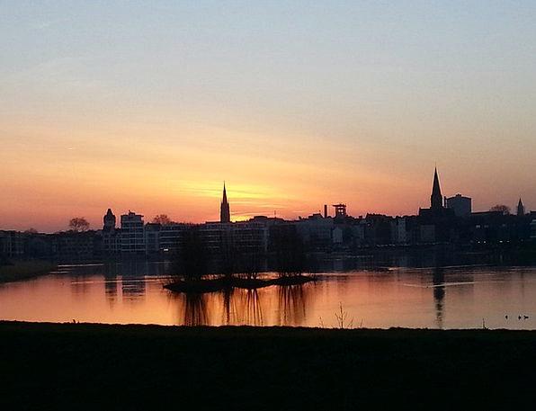 Dortmund Vacation Sundown Travel Panorama View Sun