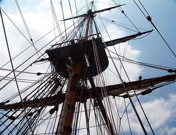 Rigging Ropes Segrelboot Sailing Vessel Endeavour