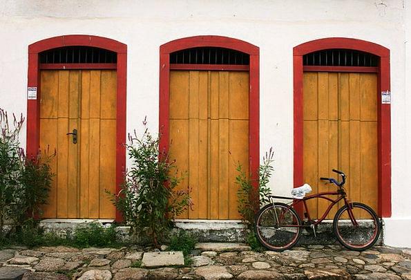 Paraty Motorbike Colonial Architecture Bike Stone