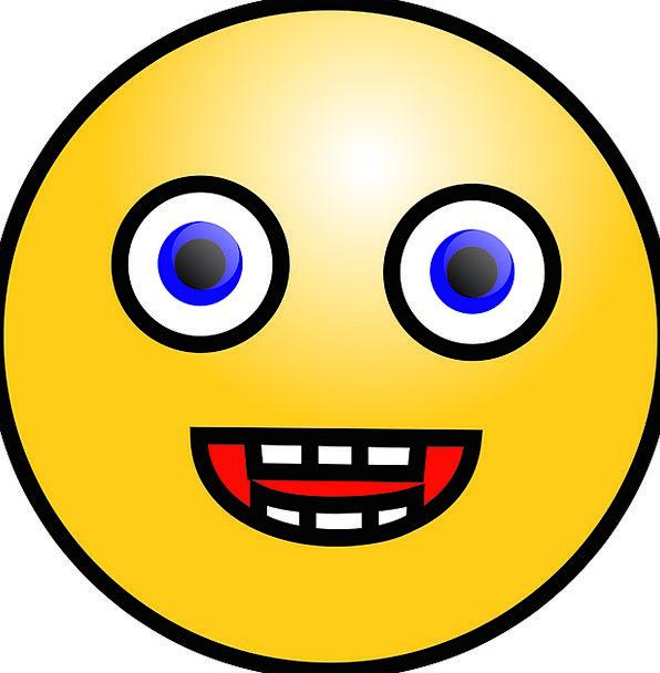 Emoticon Beams Expression Look Smiles Free Vector