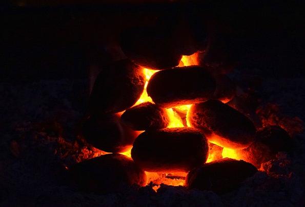 Carbon Glow Radiance Charcoal Orange Burn Injury E
