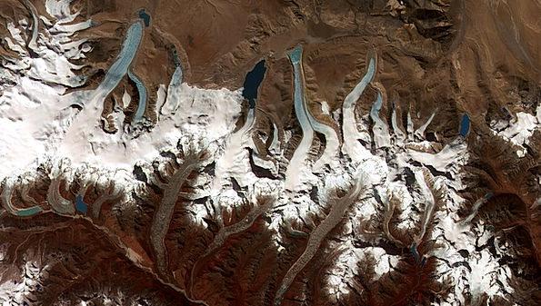 Himalayas Bhutan Himalaya Glacier Aerial View Moun