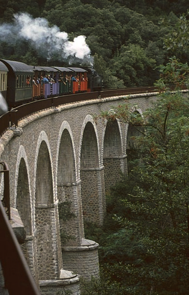 Steam Locomotive Bridge Bond Viaduct Railway Anduz