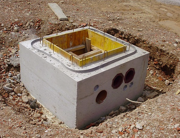 Channel Station Real Shaft Chute Concrete