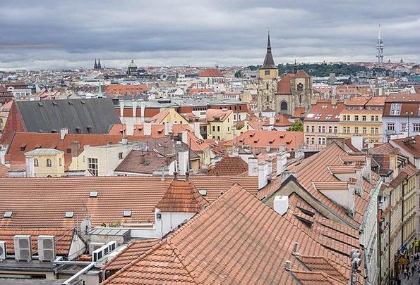Prague Buildings Urban Architecture Town City Buil