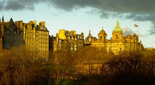 Scotland Facades Frontages Edinburgh Medieval City