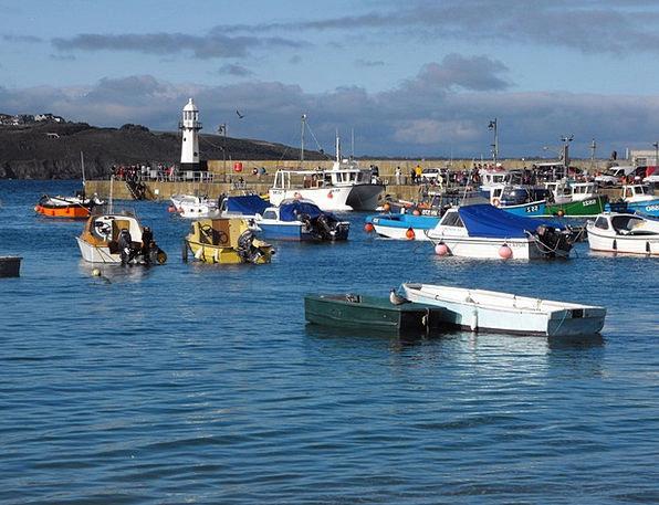 Harbour Ships St Ives Boats Sea Marine Blue Azure