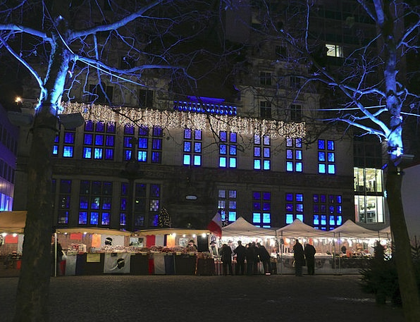 Christmas Market Blue Azure Bremen Light Bright Ef