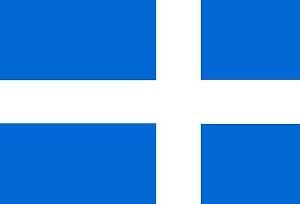 Shetland Standard Civil Public Flag Scottish Blue