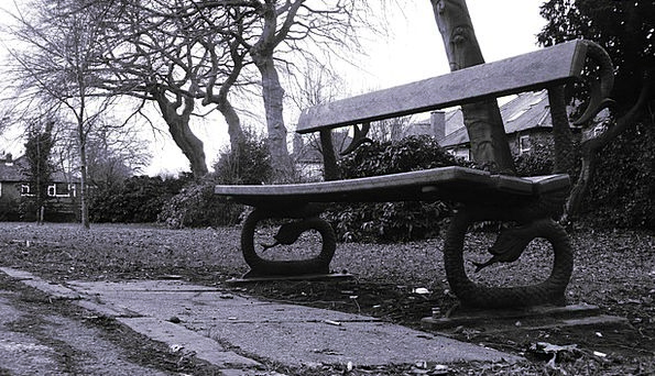 Bench Seat Common Park Bench Park Black And White