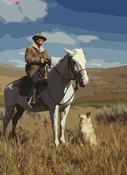 Horse Mount Unreliable Shepherd Marshal Cowboy Wes