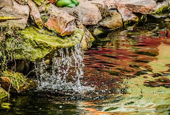 Stone Pebble Aquatic Cascade Waterfall Water