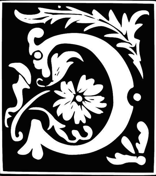 Monogram Symbol Letters Literatures Letter C Fancy