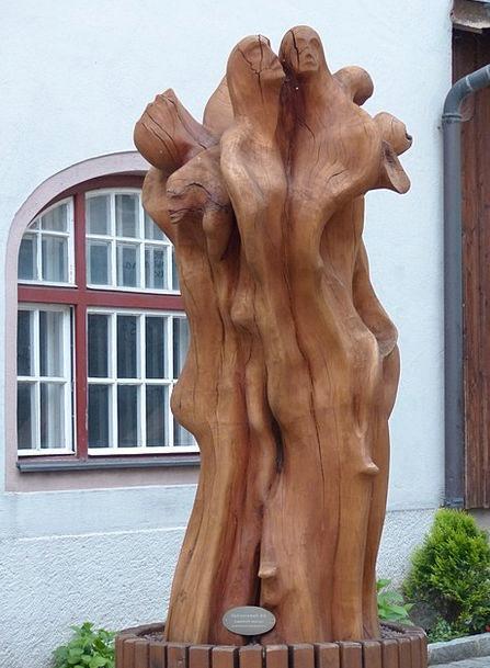 Sculpture Statue Timber Wooden Figures Wood Austri