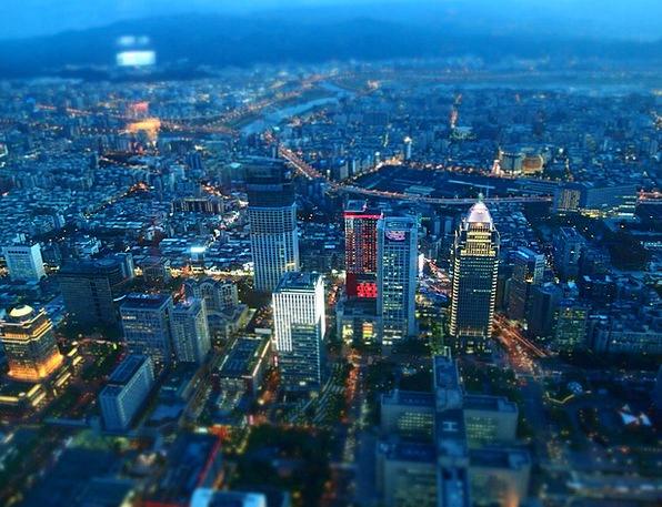 Taiwan Buildings Architecture Night View Taipei Ci