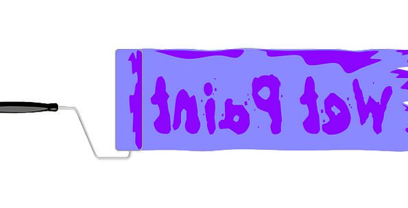 Wet Paint Symbol Paint Dye Sign Surface Tool Instr