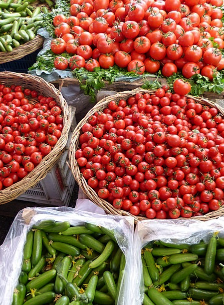 Vegetables Potatoes Drink Food Cucumbers Tomatoes