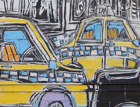 Graffiti Drawings Traffic Transportation Taxi Cab