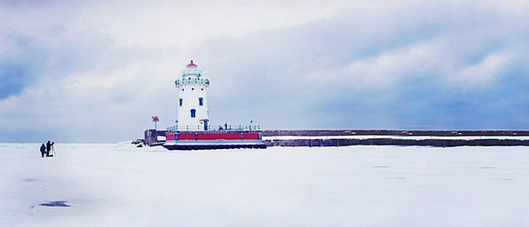 Lighthouse Landscapes View Nature Winter Season Pa