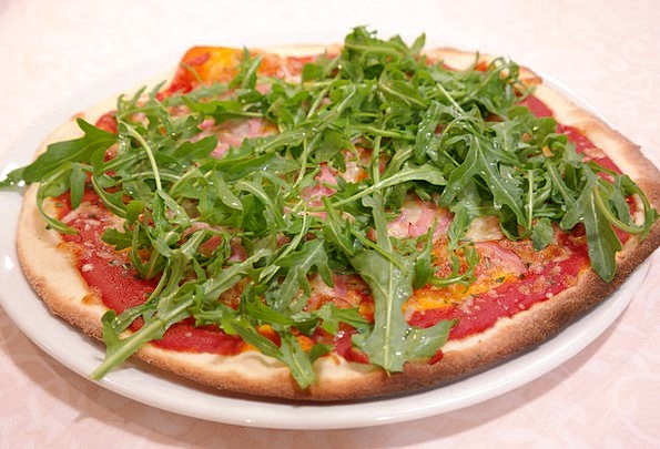Rucola Pizza Drink Food Eat Bother Pizza Arugula P