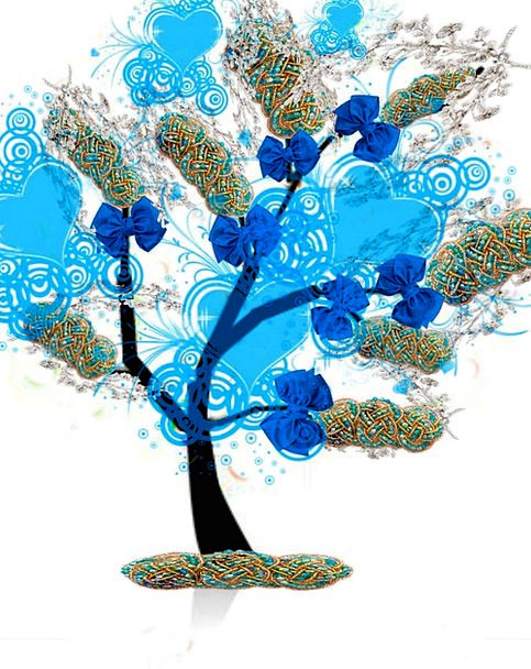 Tree Sapling Draws Blue Azure Ties Imagination Fan