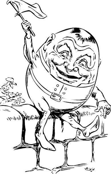 Humpty Dumpty Charm Nursery Rhyme Poem Character E
