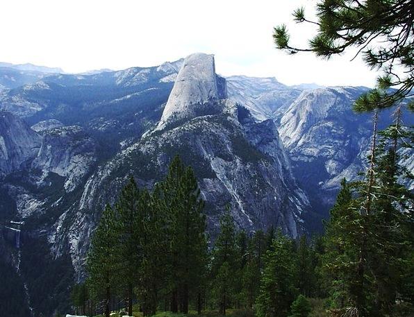 Half Partial Vault Half-Dome Dome Yosemite Yosemit