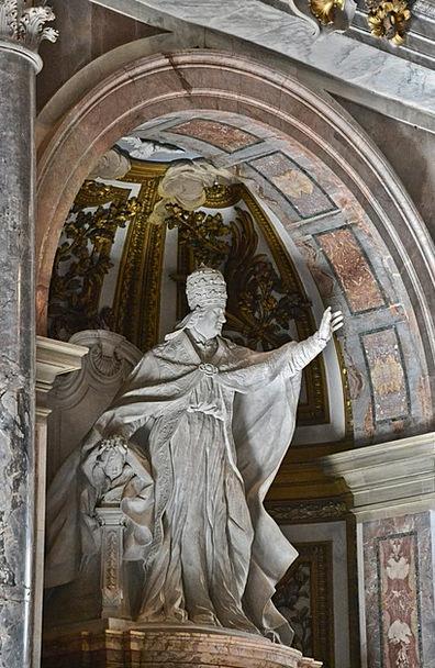 St Peter'S Basilica Pontiff Statue Figurine Pope R