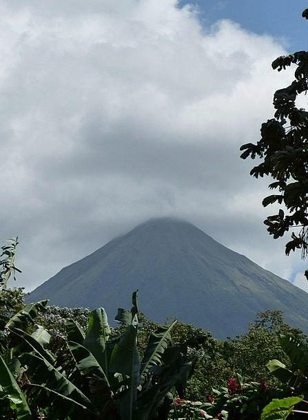 Volcano Landscapes Nature Mountain Crag Arenal Veg