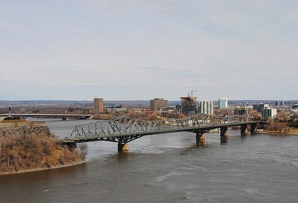 Bridge Bond River Stream Ottawa Main City Canada