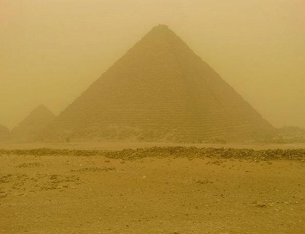 Pyramids Sandstorm Egypt